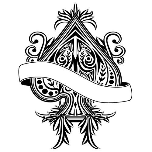 ace of spades blacklight back